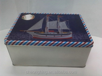 retangular tin box concise tin box beautiful tin box