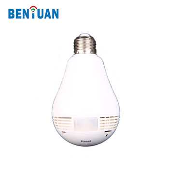 New hidden Special Features 360 degree light bulb fisheye ip camera WIFI