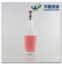 bowling shaped 500ml fancy custom made glass vodka bottle with alumnium cap