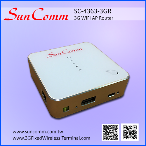 SC-4363-3GR standard and micro USB modem supported 3G Router