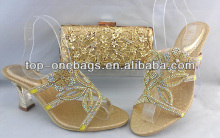 2014 new fashion italian matching shoe and bag set for party