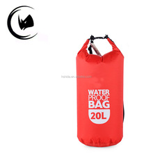 10L zipper pouch waterproof floating dry bag with dual shoulder strap