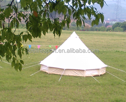high quanlity cheap polyester canvas bell tent 5m for glamping