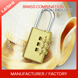 Suitcase, Travel Bag, Luggage Brass Combination Padlock