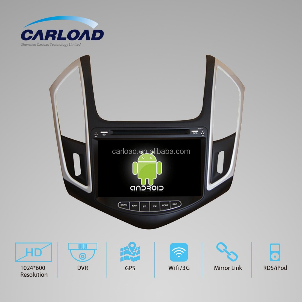 Quadcore Android 5.1 car radio for Chevrolet Cruze 2015 android 4.4 car dvd gps with