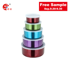 10pcs Stainless Steel Food Containers/ Promotional Gifts/ Colorful Mixing Bowl Set