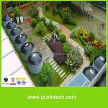 Concreted PUXIN family size bio gas plant for electricity generation