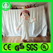 HI Best selling Arabic man and women cartoon character mascot costumes for adult