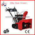 Gas rubber track snow thrower/snow blower cleaning tools