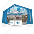 Shanghai hire shiny trade fair stand 6x6 exhibition booth