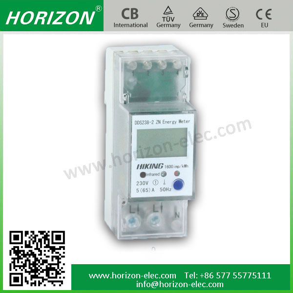 DDS238-2 ZN high stability 2 module single phase kwh meter electric meter box 2P