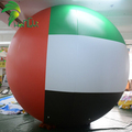 UAE Colored Helium Floating Balls / Custom Design Inflatable Flag Balloons for Party Events