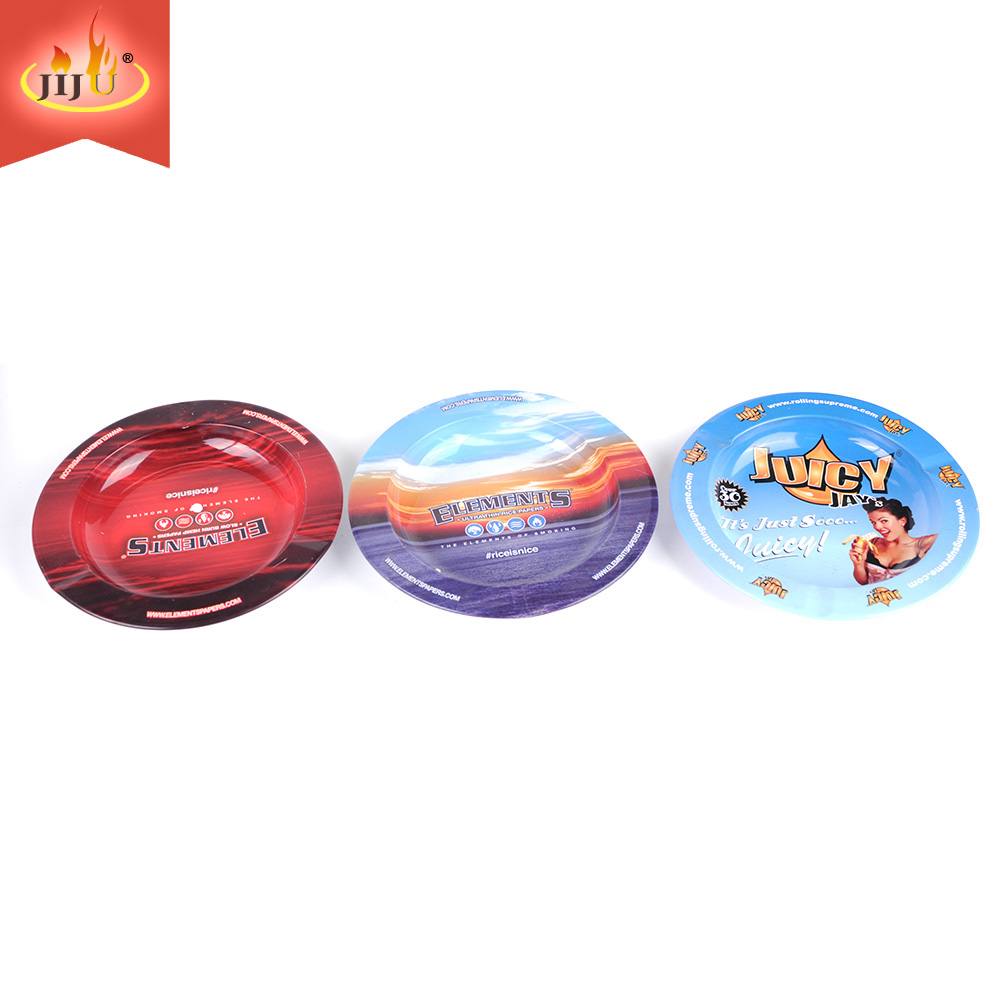 Hot Sale Tobacco Creative Round  Wholesale Custom Smoking Metal Ashtray
