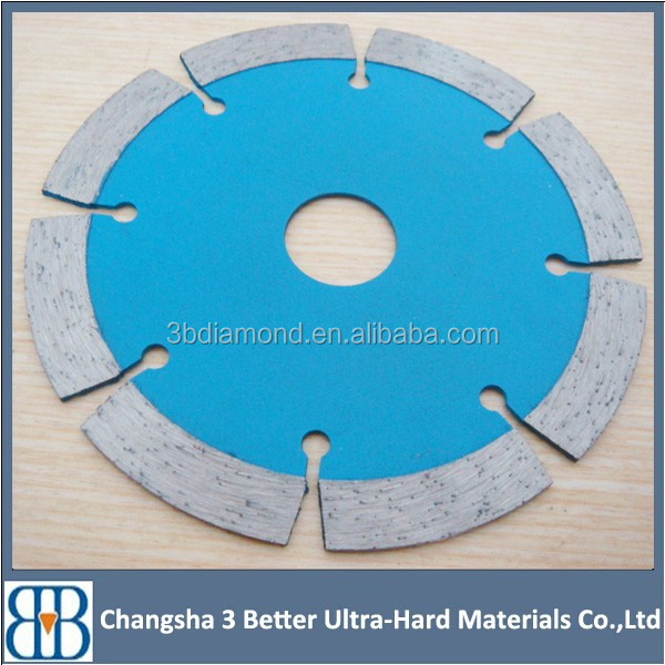 Different size and slot diamond circular concrete saw blade