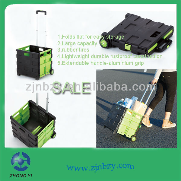 2018 Plastic Trolley Cart Folding Trolley Cart
