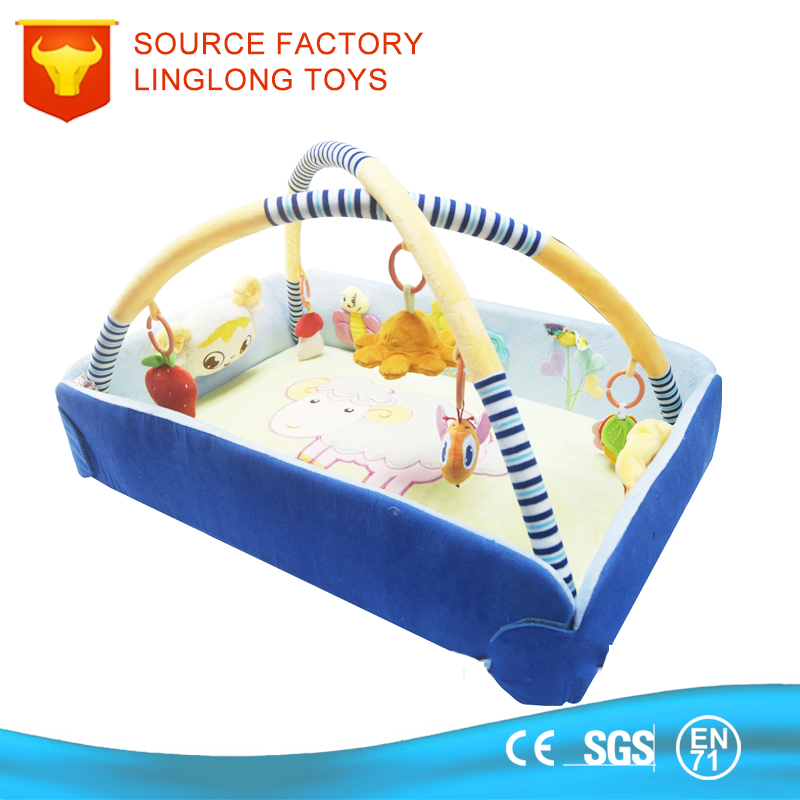 TUV Factory Bed Room Furniture Baby Bed Down Mini Toy Baby Playard with hanging toys Baby Cot Bed