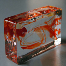 Colored solid glass building block manufactures
