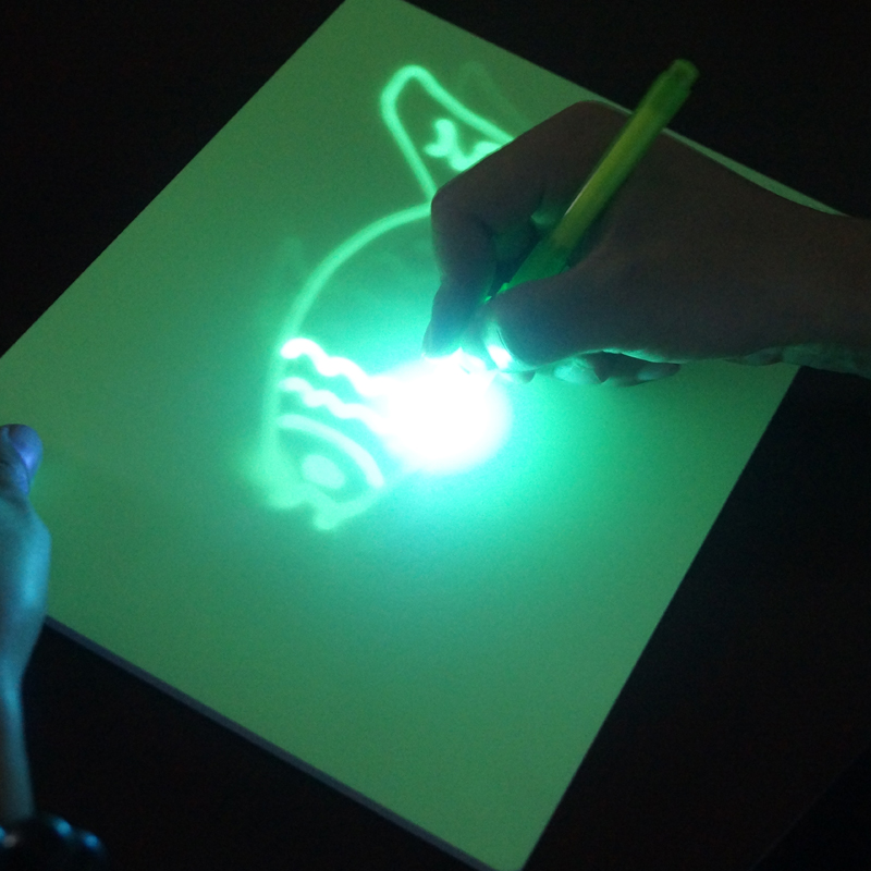 Creative Magic LED Illuminated Night Drawing Board Photoluminescent Glow Art Dark Drawing Pad For Children