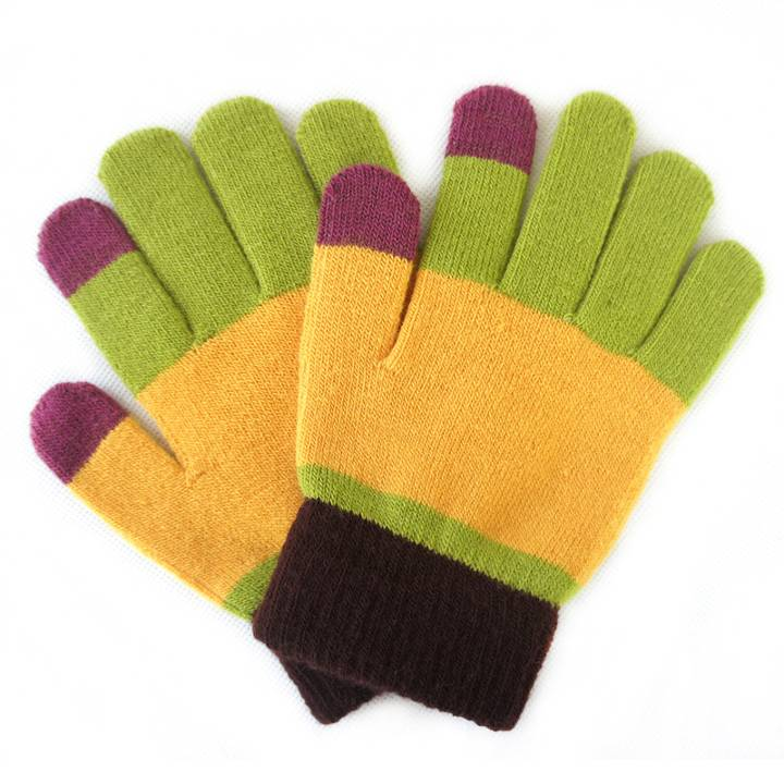 Custom Plush Knitted gloves Touch Screen Winter Warm Gloves