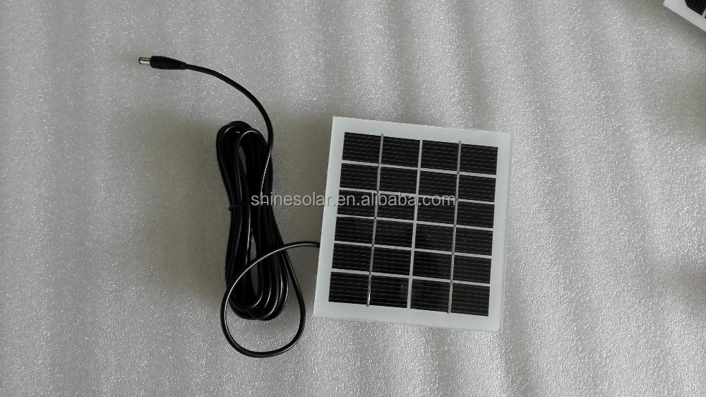 3m wire with DC power jack pv solar paenl without frame