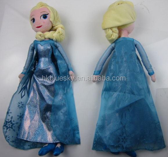 OEM plush toys Frozen Elsa stuffed plush doll,Elsa plush toys