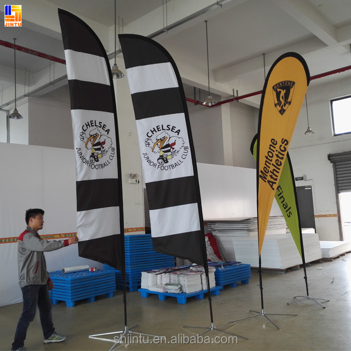 supply factory price advertising beach flying feather flag banner