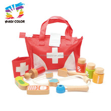 Wholesale educational role play toy wooden medical care toy for children W10D155