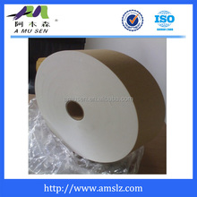 Tea bag filter paper for double chamber and single chamber tea bag making machine application.