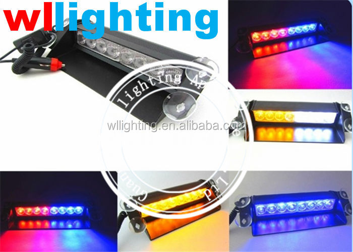 red/white/yellow/blue/green 12 Volt Led Dash Warning Lights for truck/police car