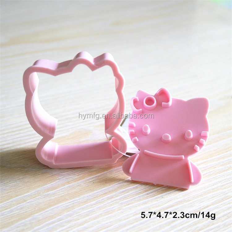 Plastic HELLO KITTY shaped cookie cutters and cartoon cookie cutter