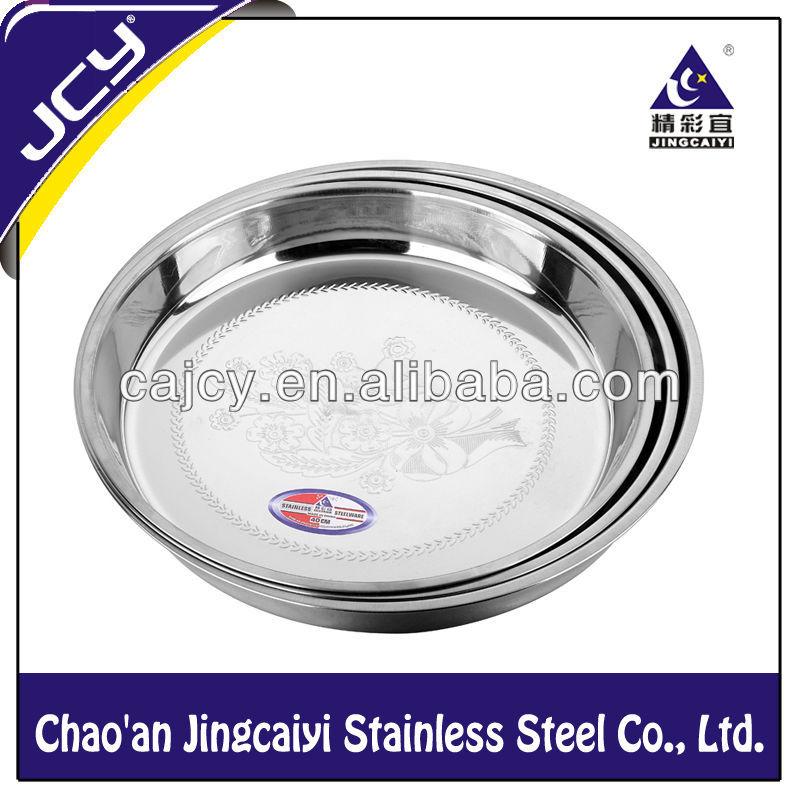 Menaje de acero inoxidable profundizar en relieve ronda for Menaje en acero inoxidable