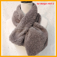 Fashion Faux Fur Women's Scarf Neck Warmer Wrap 20x100cm