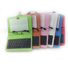 "For 7"" Tablet PC Leather Case with Keyboard"