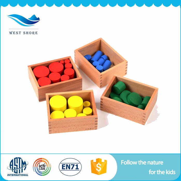 Manufacturers Educational Wooden Toy Educational Games For Children Cylinder Blocks Montessori