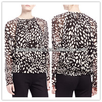 Women nice printed long sleeve blouse,Chinese clothing(YS30010)