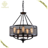 New design fashion product decorative creative cage living room coffee shop bedroom iron hanging lamp