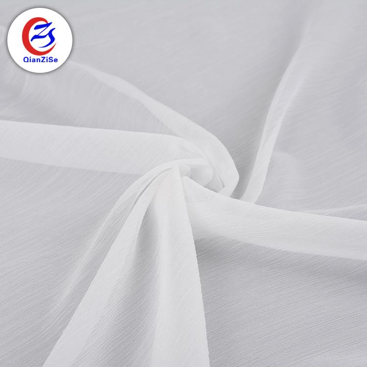 New style eco-friendly 100%polyester chiffon fabric bulk white fabric