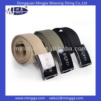 customized logo canvas waist belt with metal buckle