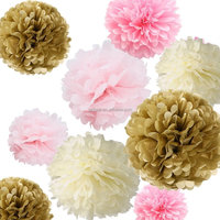 Wholesale Weddings /Birthday Parties /Baby Showers Paper Flower Decorations Tissue Paper Pom Poms