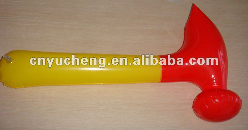 new fashion promotion plastic PVC inflatable hammer toy