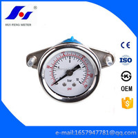 Dry 60mm Back Entry Bourdon Tube Hydraulic 0-230psi/bar U-clamp Water Wika Pressure Gauge