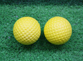 Customized logo PU golf shape anti stress ball