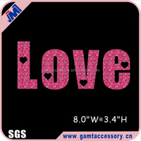Wholesale Love glitter vinyl heat transfer design