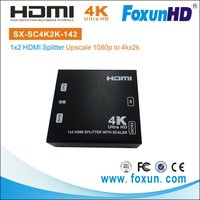 SX-SC4K2K-142 Upscale 1080p@24/30Hz to 4K*2K@24/30Hz HDMI Splitter 1 In 2 Out Support CEC
