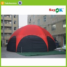 big igloo camping inflatable 14ft round trampoline party dome geodesic tent