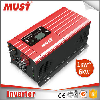 Must High Efficiency 1000W 12V low frequency pure sine wave power inverter for solar system