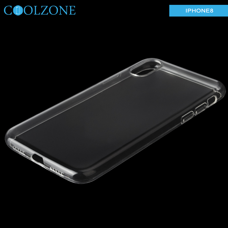 High transparent TUP case for iPhone X ,soft TUP case for iphone X mobile phone accessories