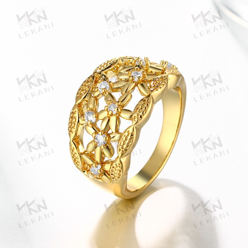 2015 New Wholesale 18k yellow rose gold especially style ring for women
