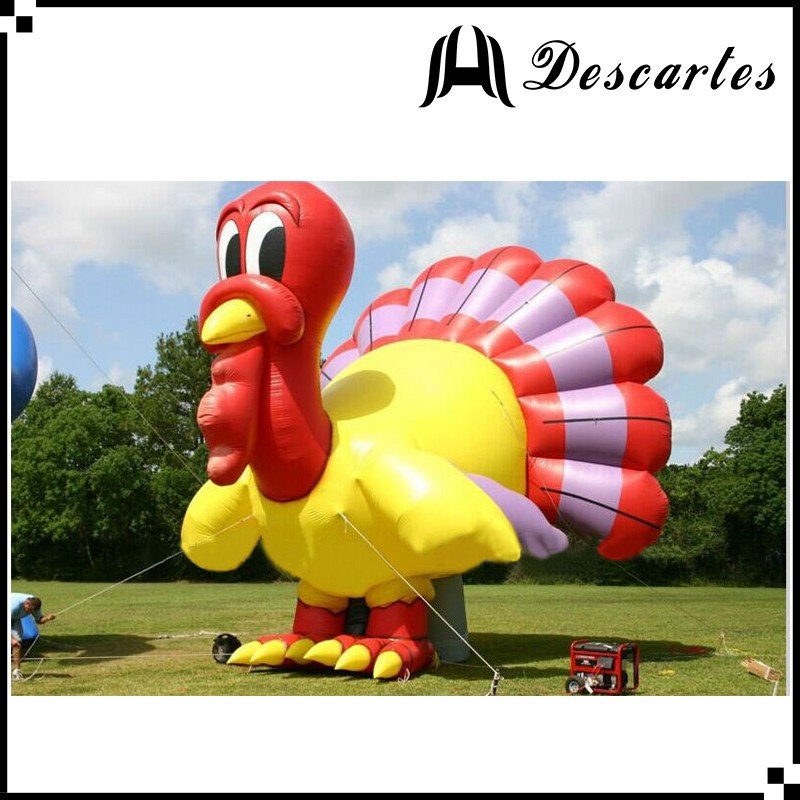 2016 oxford cloth custom made inflatable replica turkey for Thanksgiving days
