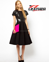 2014 hot selling sexy boutique faux leather dress